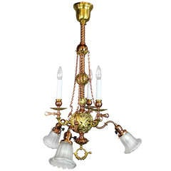 McKenney & Co. Combination Gas/Electric Light Fixture