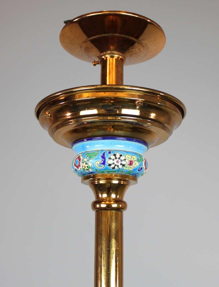 Longwy Aesthetic Movement Gas Chandelier 4 Light For