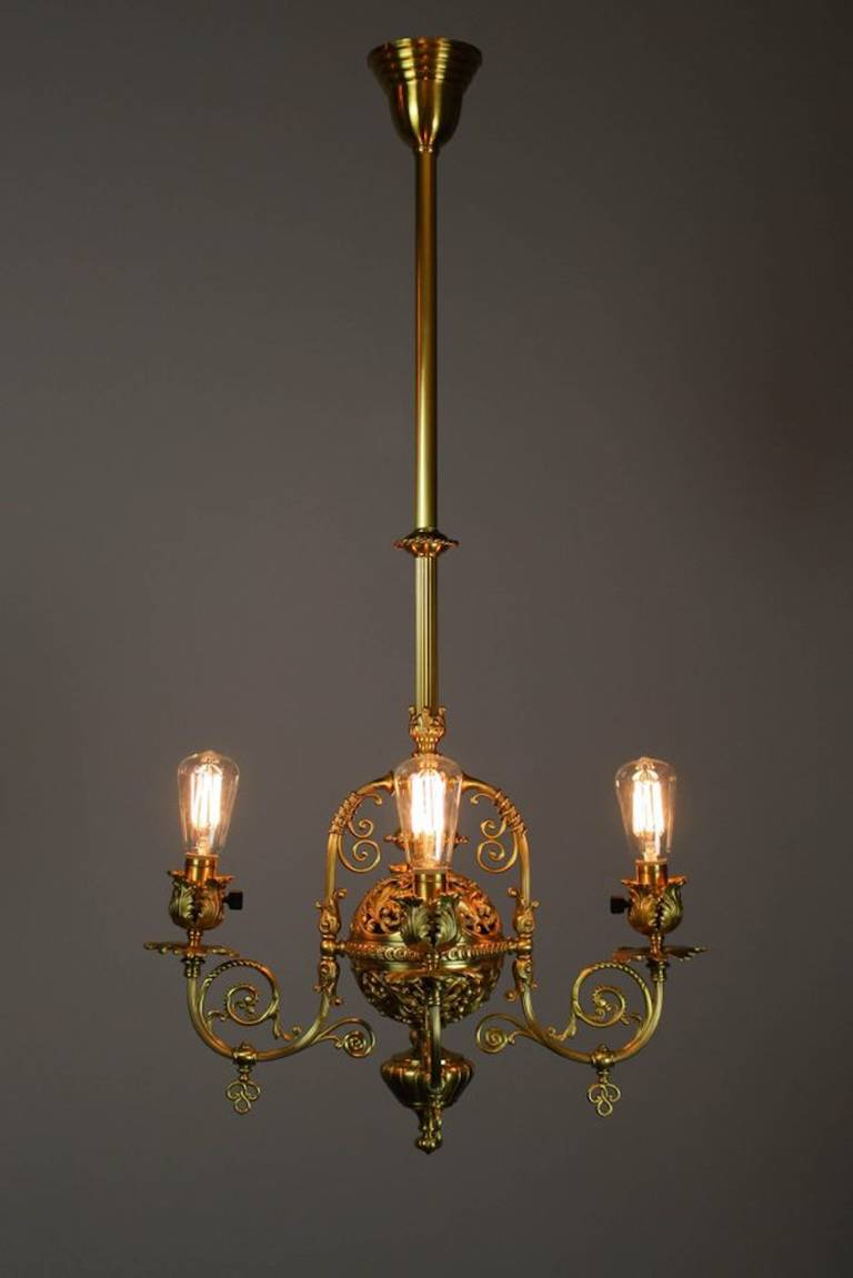Exceptionally Beautiful Four Light Victorian Filigree