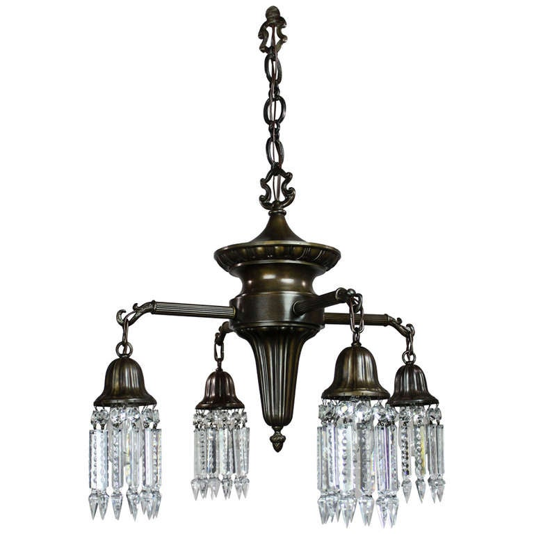 Early american sheffield spindle light fixture 4 light - Early american exterior lighting ...