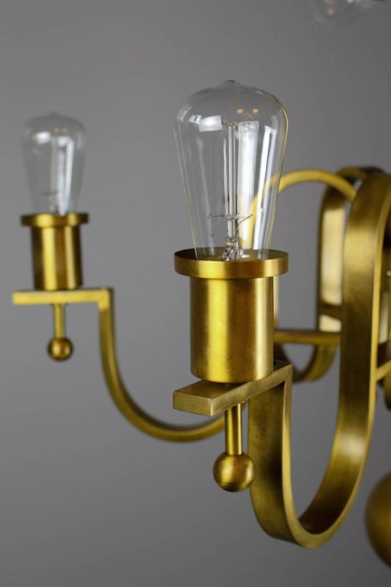 french art moderne bare bulb light fixture at 1stdibs. Black Bedroom Furniture Sets. Home Design Ideas