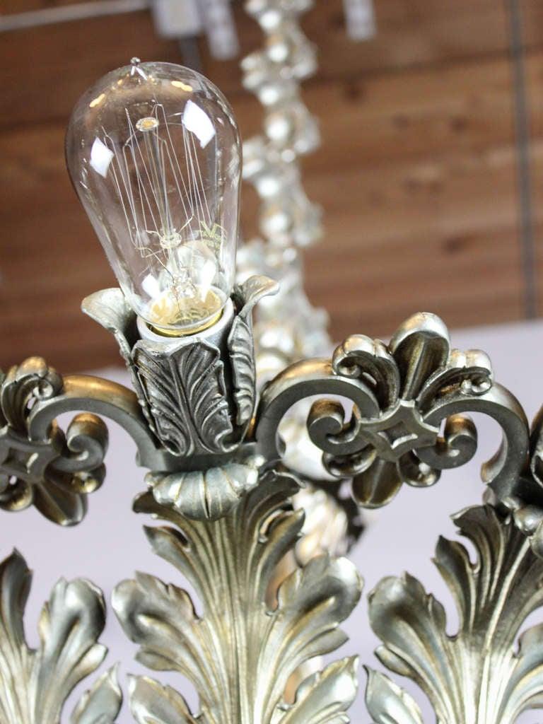Art deco odeon chandelier 18 light at 1stdibs arubaitofo Gallery