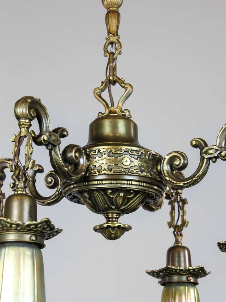 Artistic Antique Light Fixture 4 Light At 1stdibs