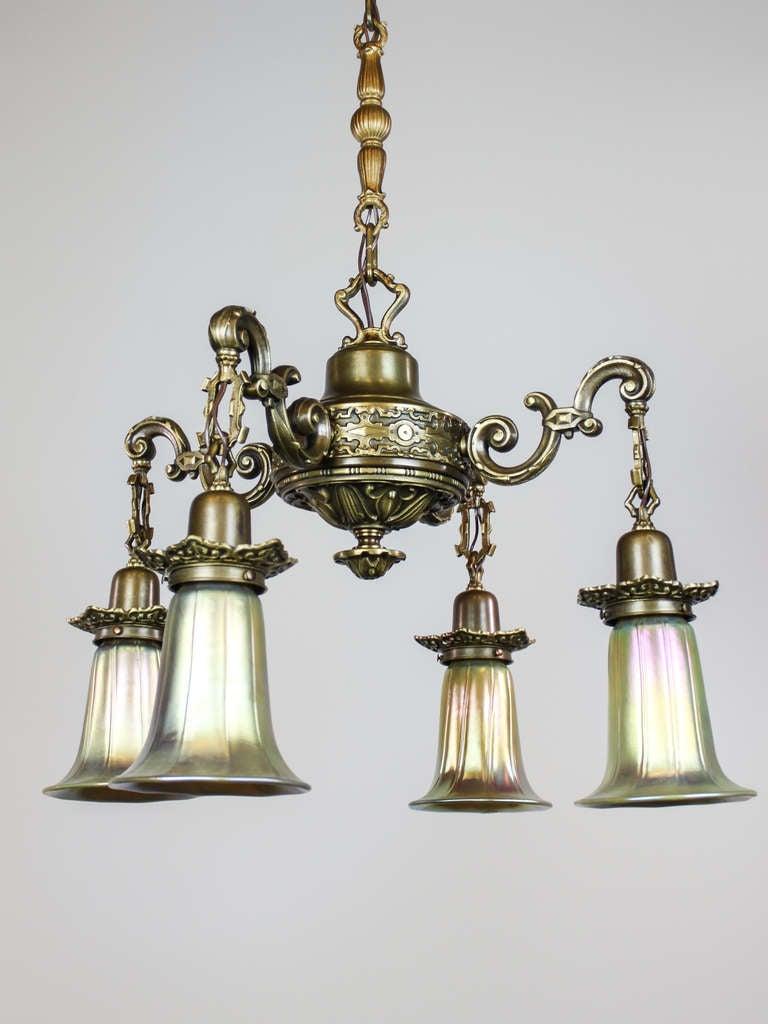 Artistic Light Fixtures artistic antique light fixture (4-light) at 1stdibs