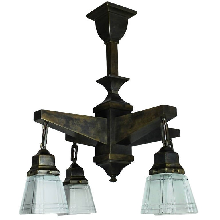 Mission Style Four Light Fixture At 1stdibs