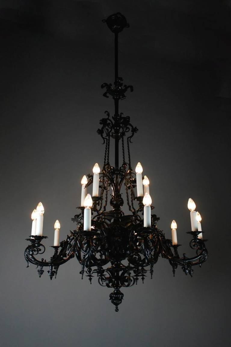"Romanesque Gothic Style ""Dragon"" mercial Chandelier by"