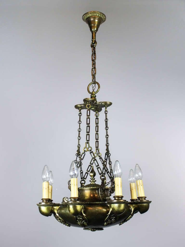 Quot Miller Quot Powerful Empire Light Fixture 8 Light For Sale
