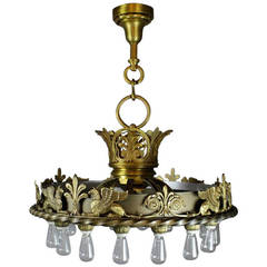 Commercial Beaux-Arts Chandelier from the Masonic Lodge Kansas City, MO