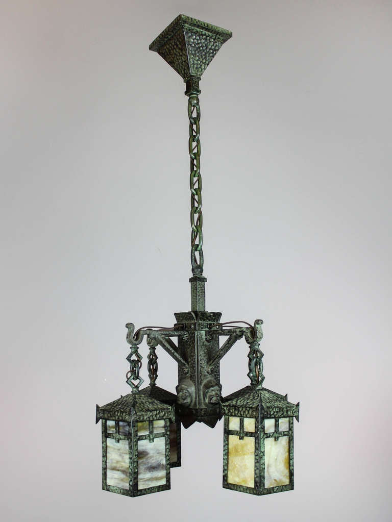 arts and crafts monk fixture by bradley and hubbard at 1stdibs. Black Bedroom Furniture Sets. Home Design Ideas