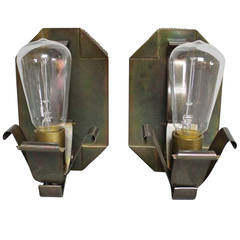 Pair Of Hammered Copper Arts And Crafts Sconces At 1stdibs