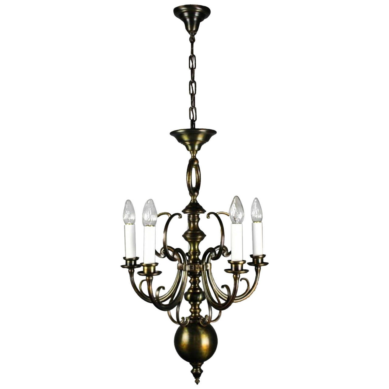 Unusual Art Nouveau Fixture 5 Light At 1stdibs