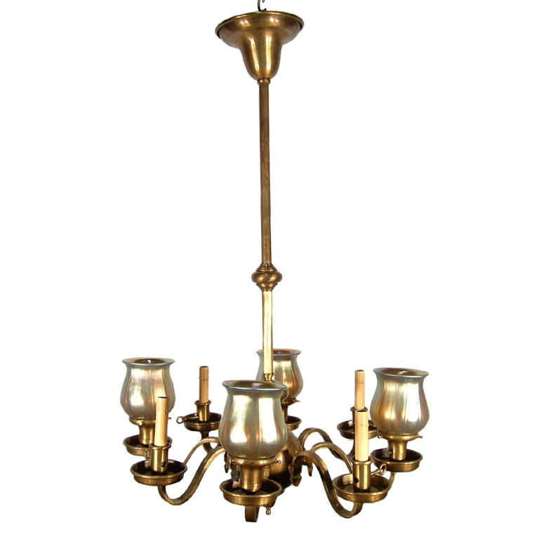 Arts and crafts gas electric light fixture at 1stdibs for Arts and crafts light