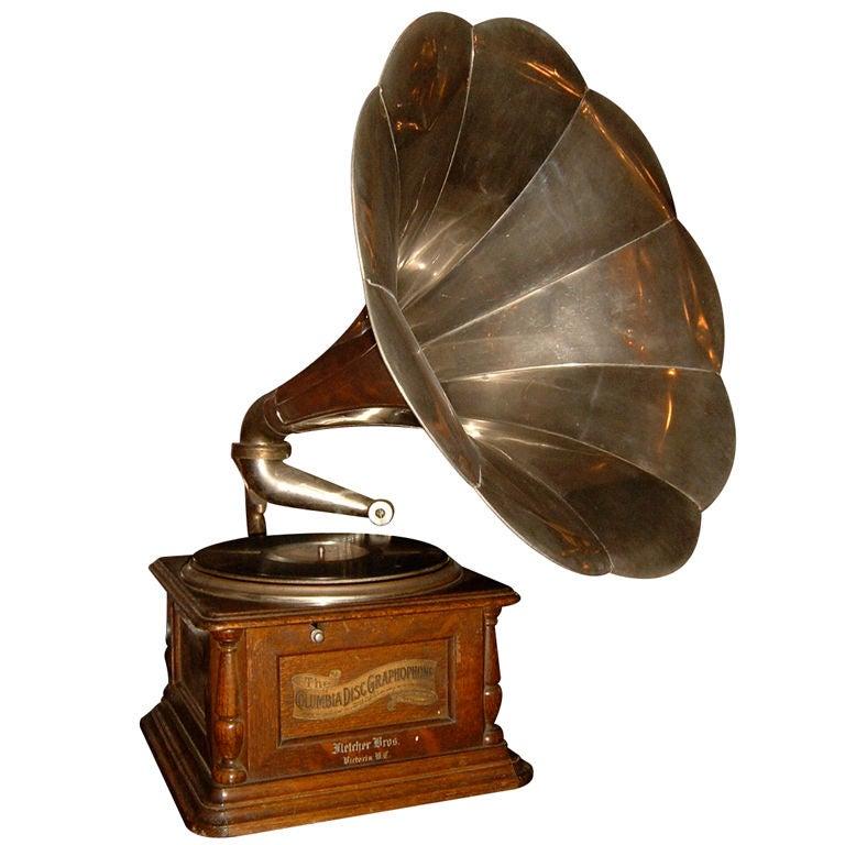 Columbia Disc Graphophone at 1stdibs
