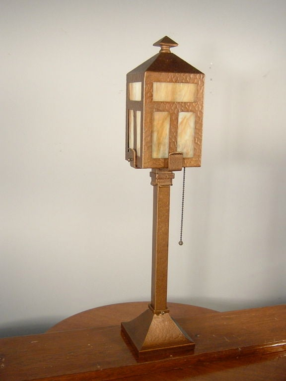 Arts And Crafts Newel Post Light At 1stdibs