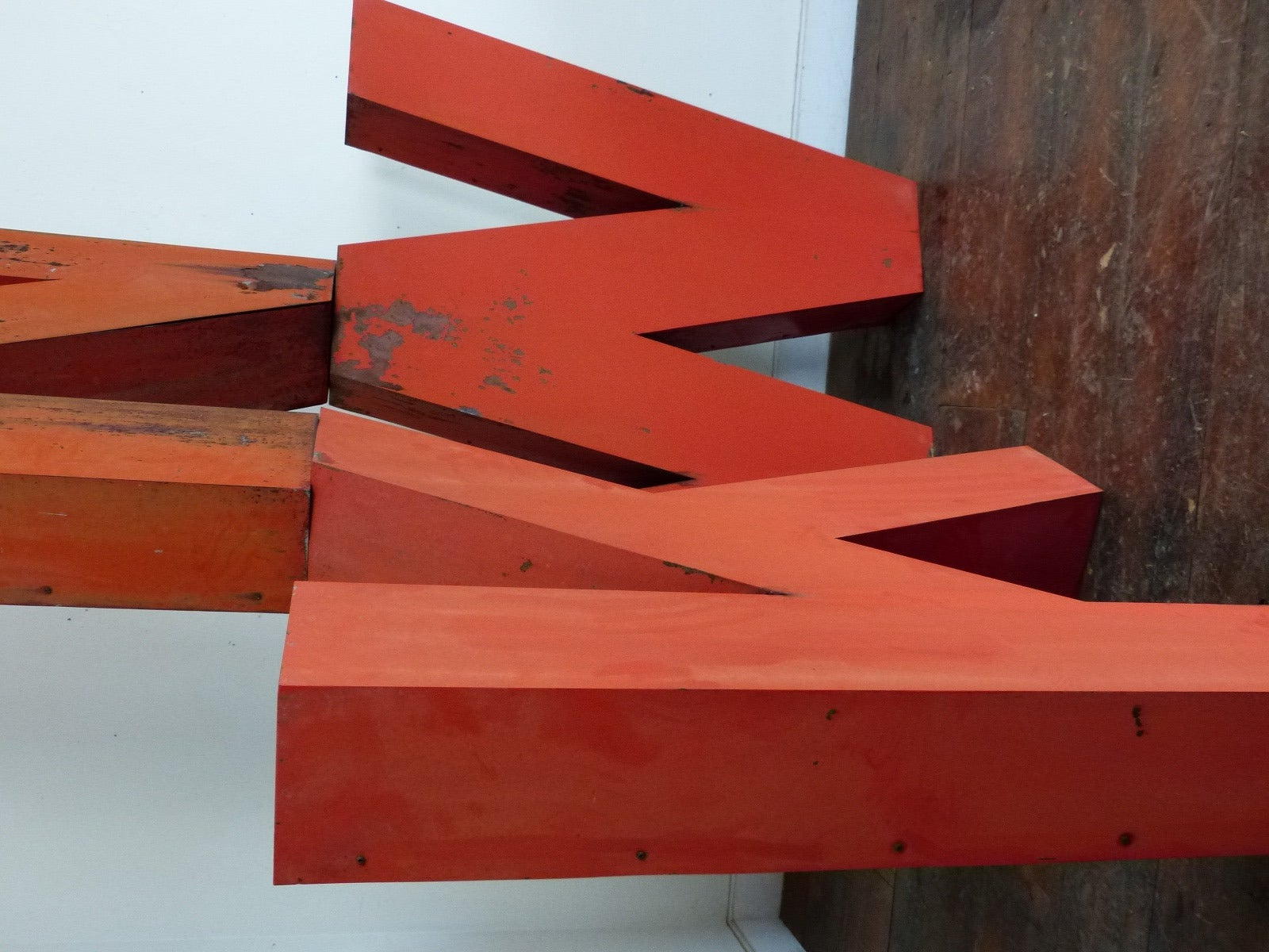 1950s Era Large Metal Letters In Good Condition For Sale In Surrey, BC