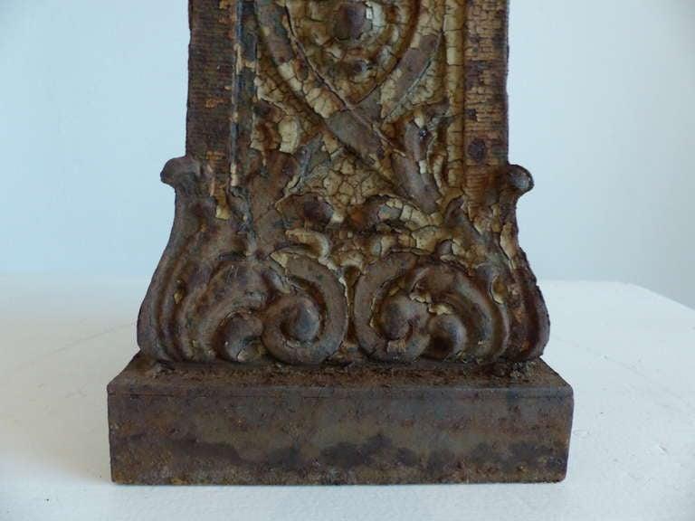 Pair of cast iron newel posts image