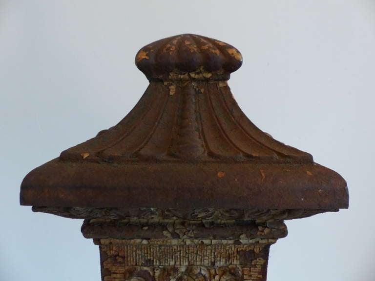 Pair of cast iron newel posts at stdibs