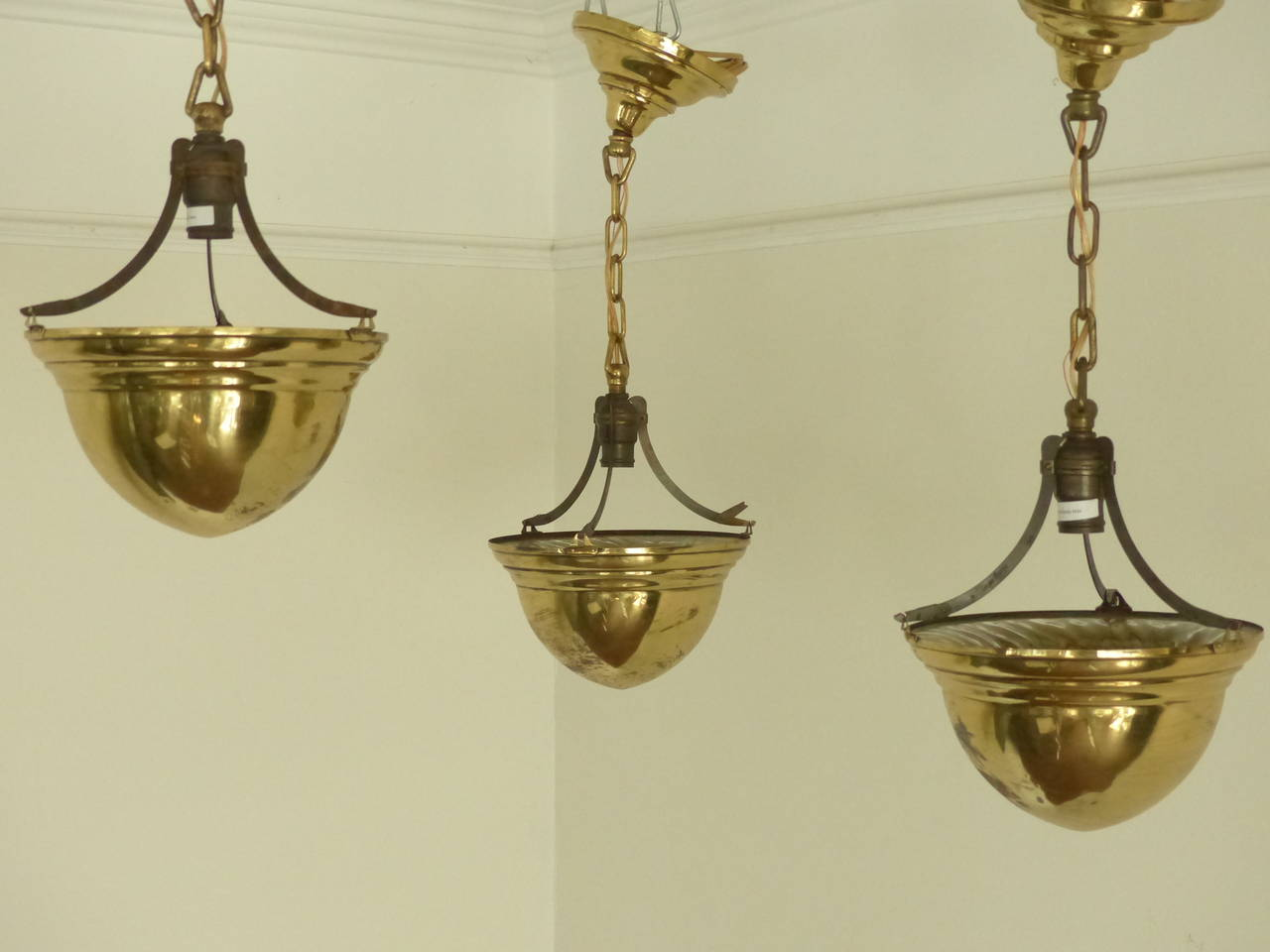 1920 brass cone ceiling light fixtures at 1stdibs