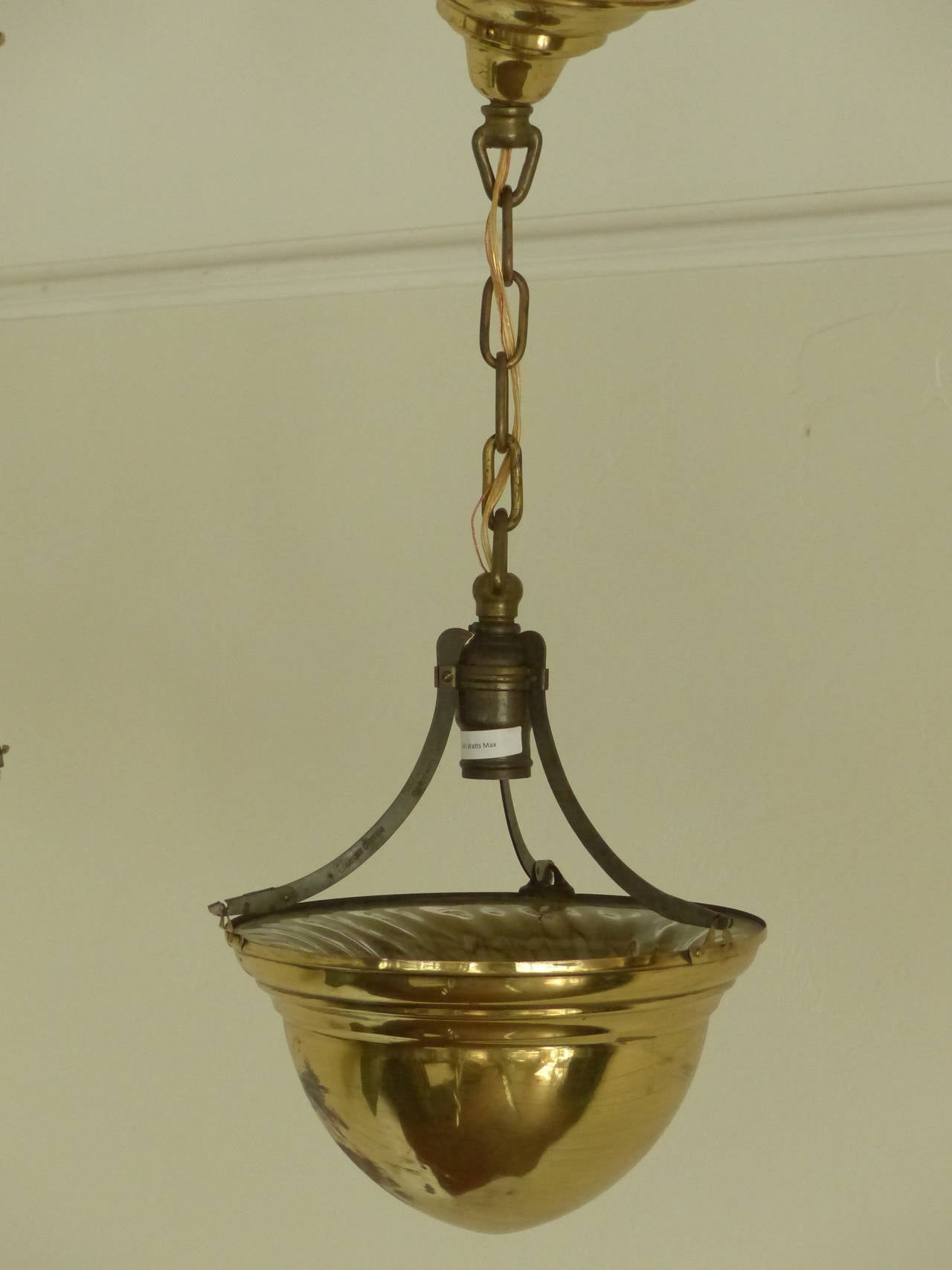 1920 brass cone ceiling light fixtures for sale at 1stdibs