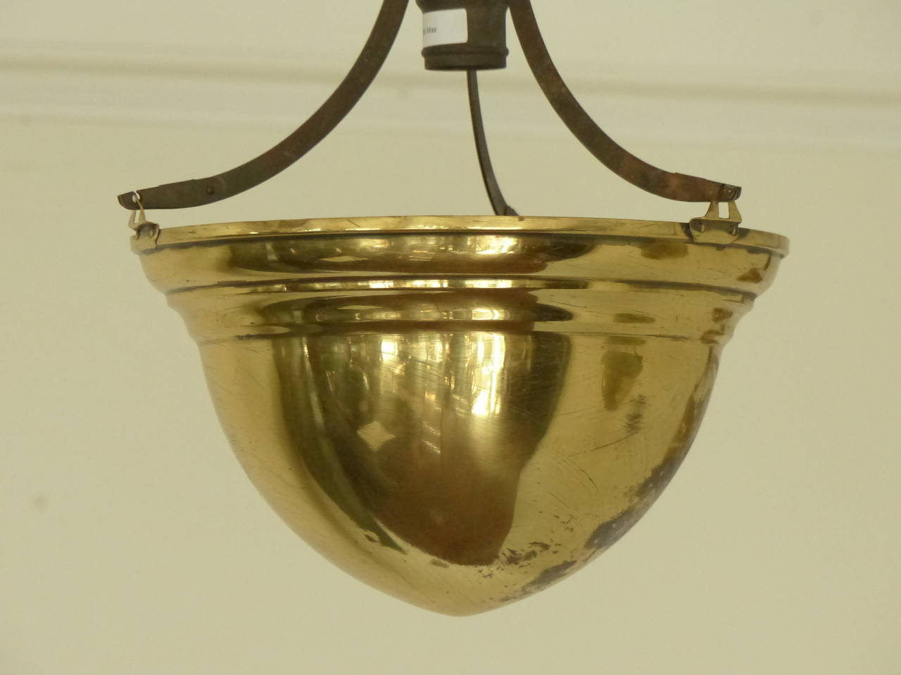 Brass Chandelier Ceiling Lights : Brass cone ceiling light fixtures for sale at stdibs