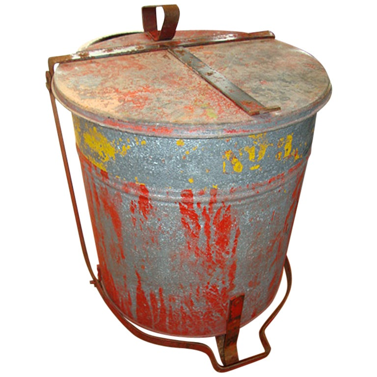 Industrial Garbage Containers : Industrial waste cans at stdibs