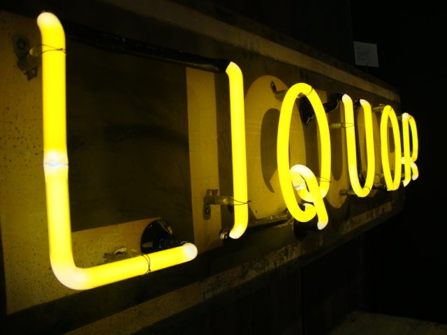 Liquor Sign with working Neon 3