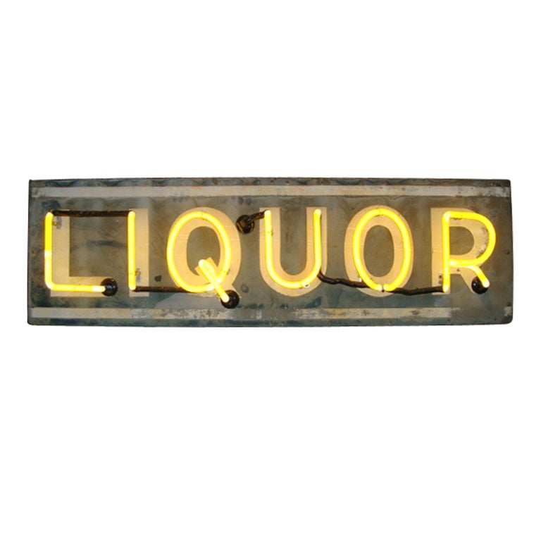 Liquor Sign with working Neon