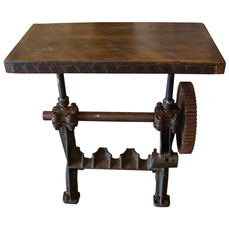 Industrial Side Table At 1stdibs