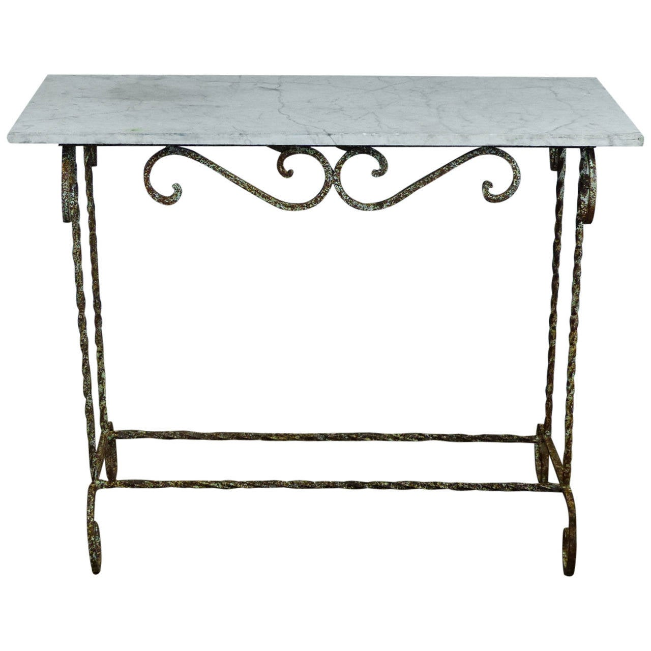 Marble Console Table : Marble-Top Console Table at 1stdibs