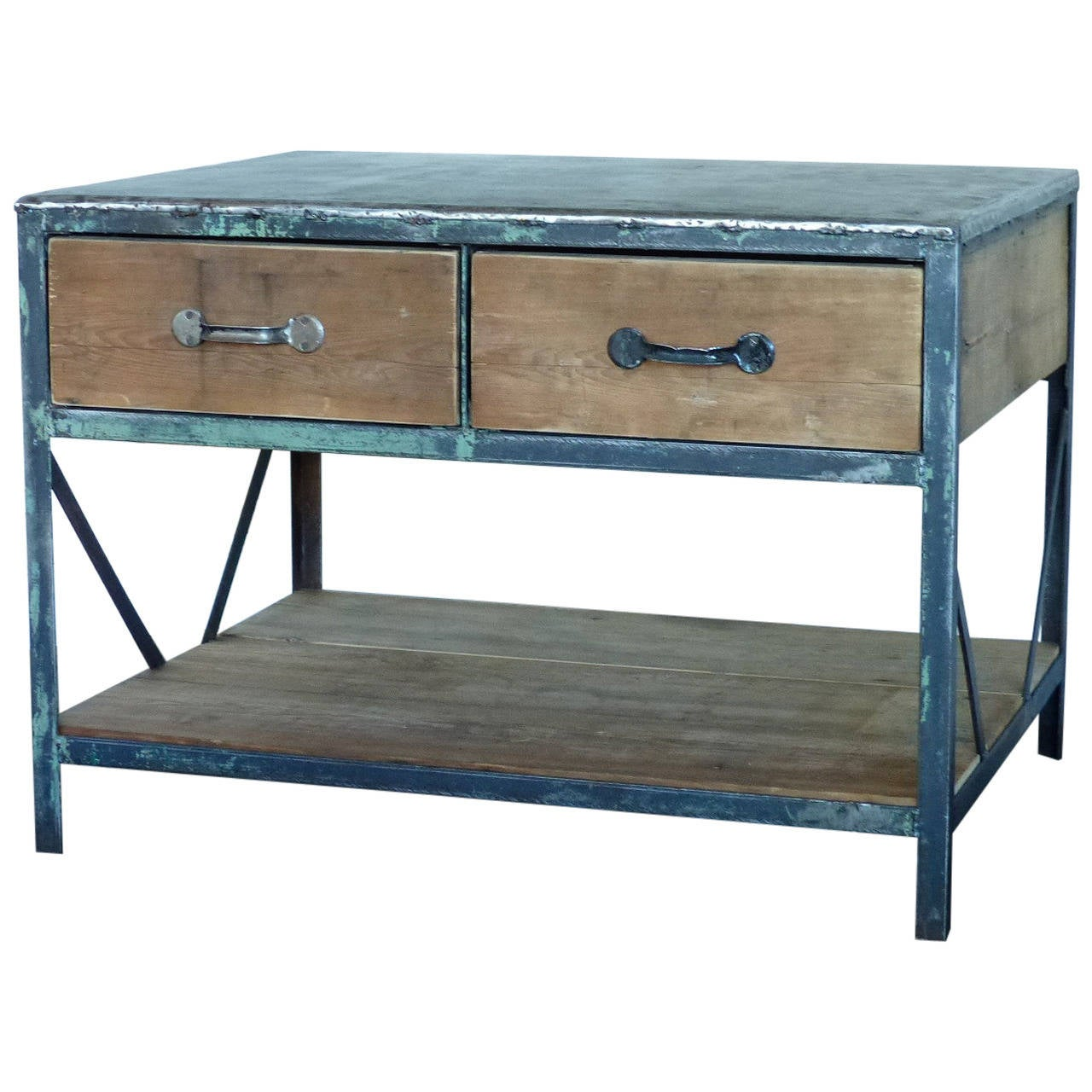 Industrial Work Table At 1stdibs