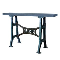 Console Table with a Stone Top