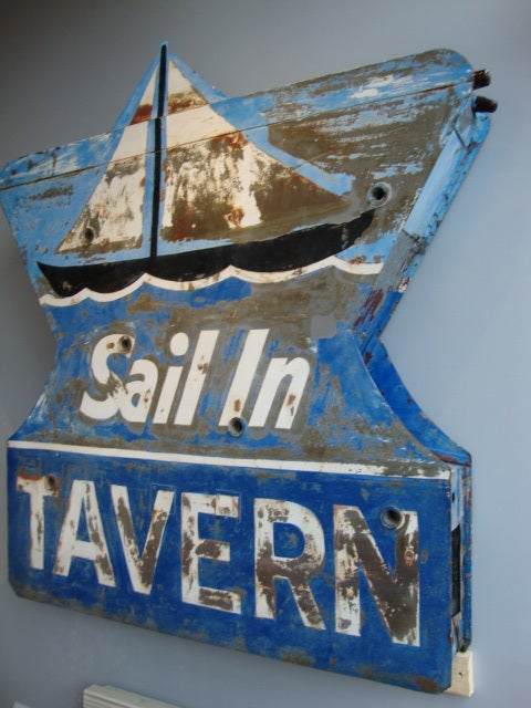 American Double sided Tavern Sign For Sale
