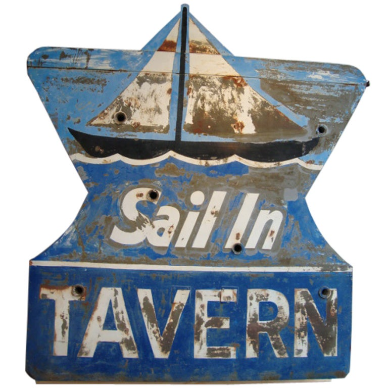 Double sided Tavern Sign For Sale