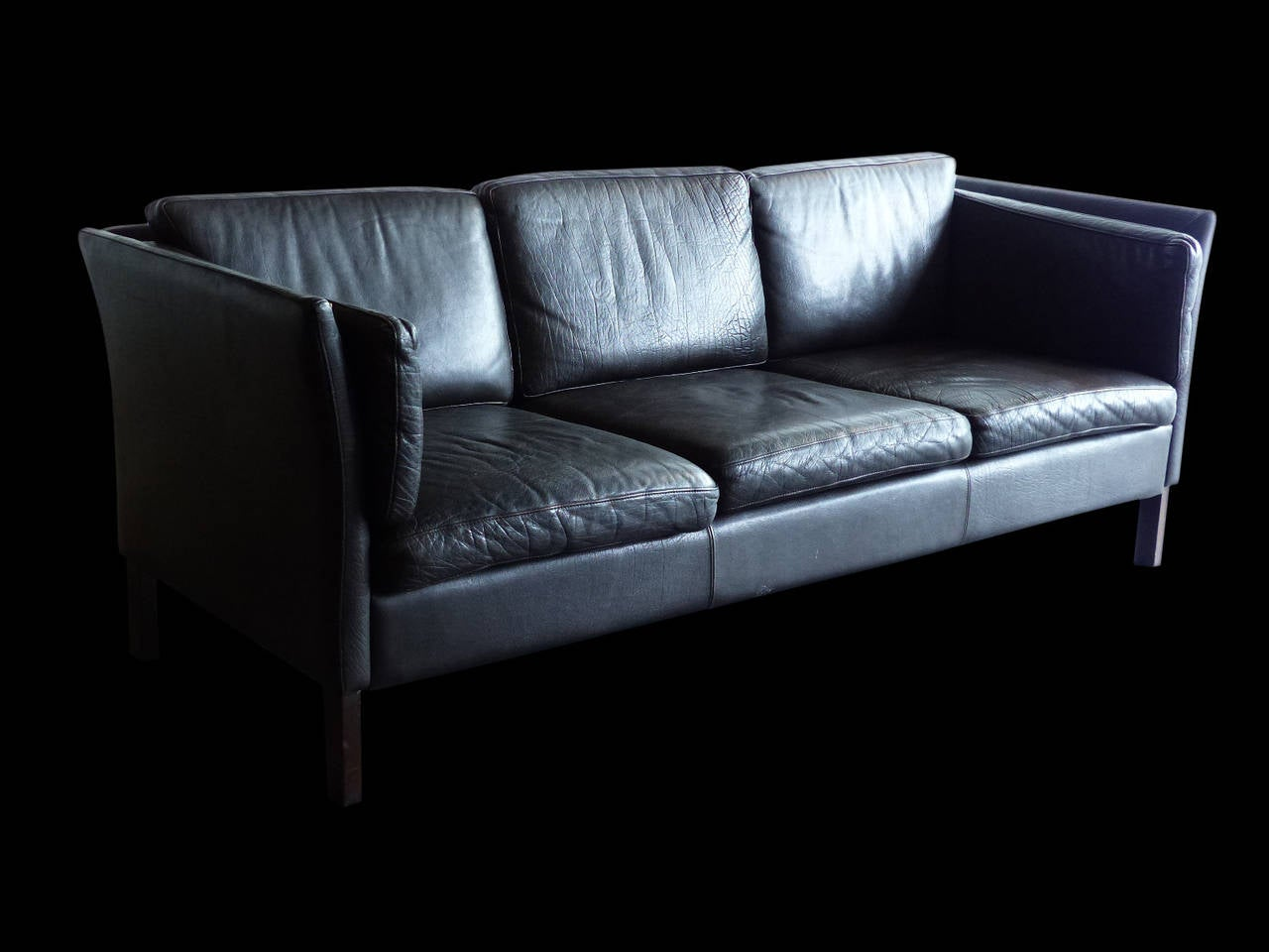 this leather mid century modern sofa is no longer available