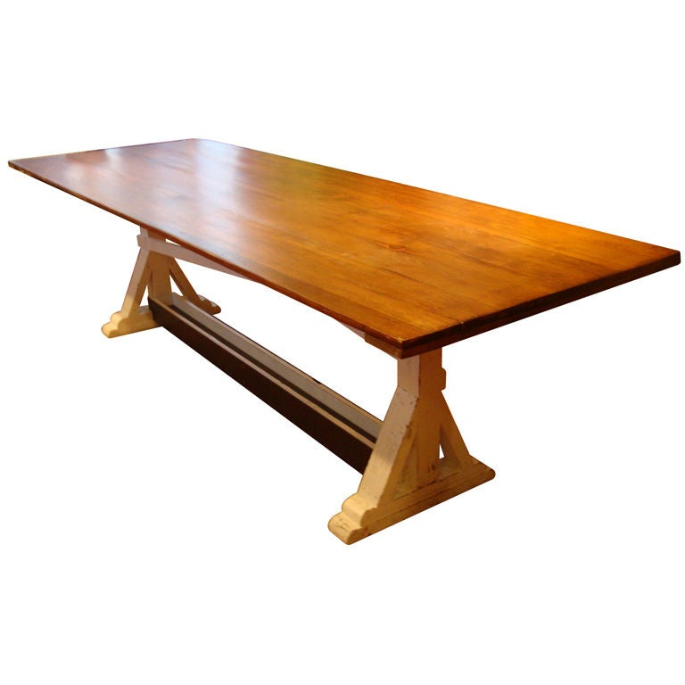 Pine 9 ft table at 1stdibs for 9 foot dining room table