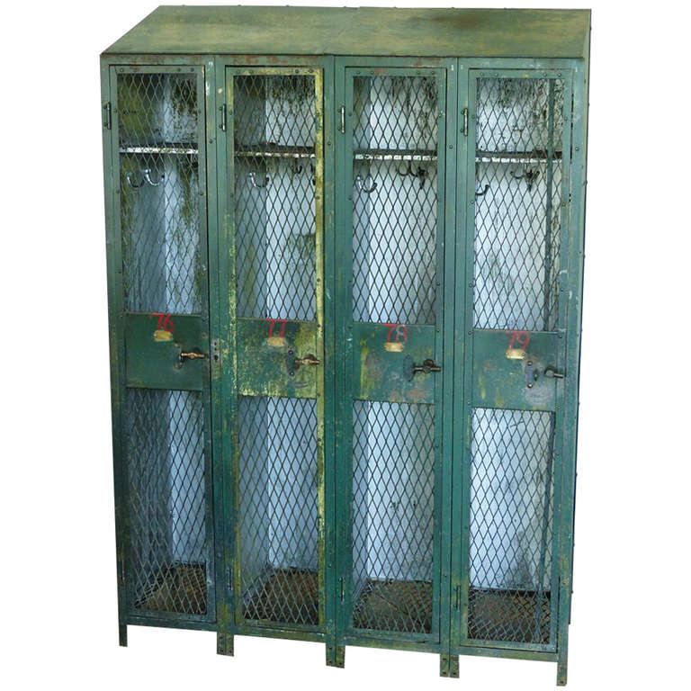 Painted gym lockers at 1stdibs for L furniture more kelowna