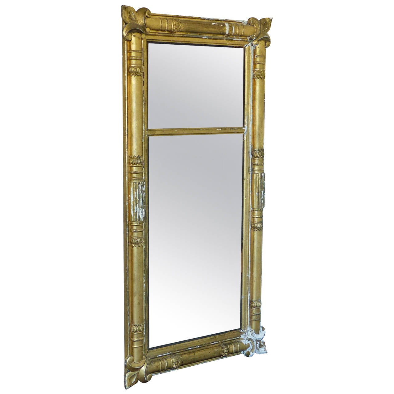 Gilded mantel mirror at 1stdibs for Fireplace mirrors
