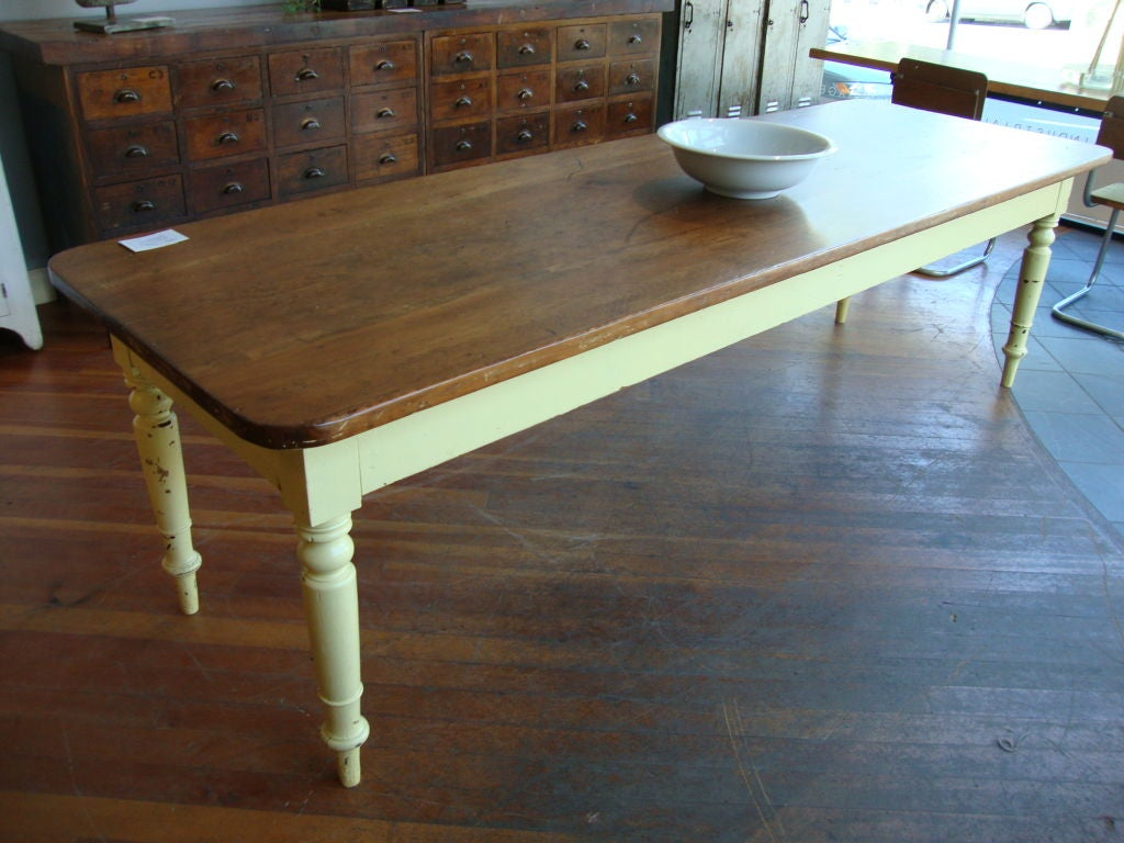 Pine 9 Ft Harvest Table At 1stdibs