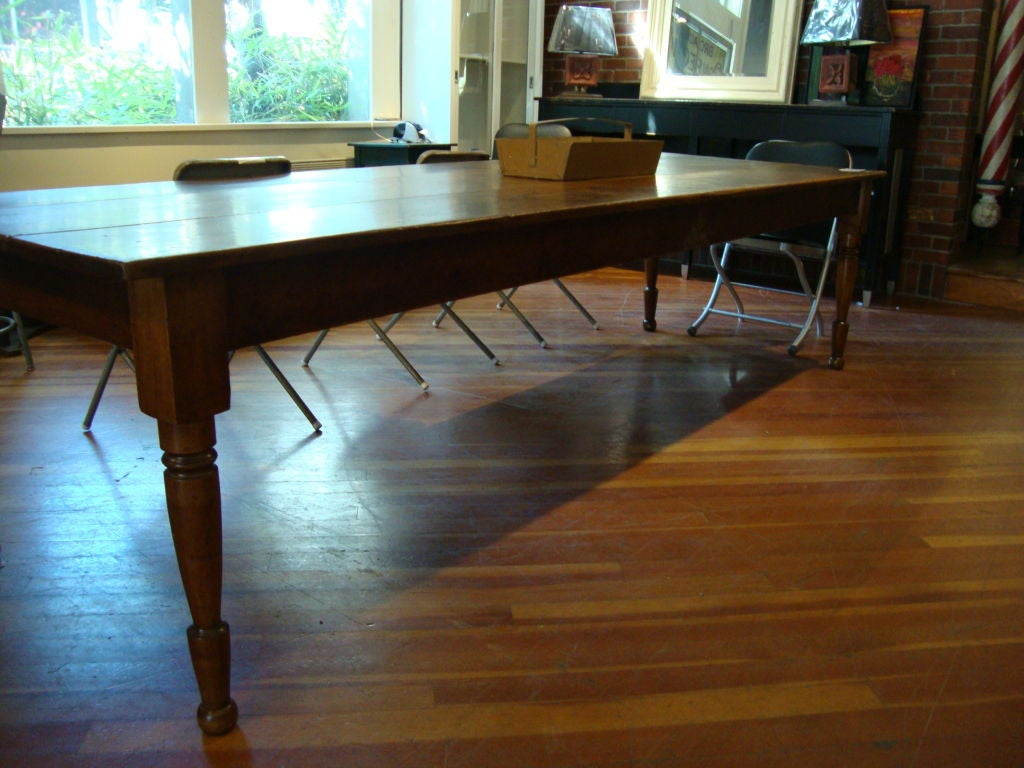 Pine harvest table 10 ft at 1stdibs for 10 foot farm table