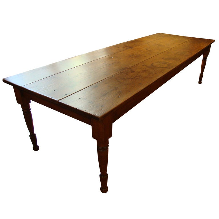 Pine harvest table 10 ft at 1stdibs for 10 ft farmhouse table