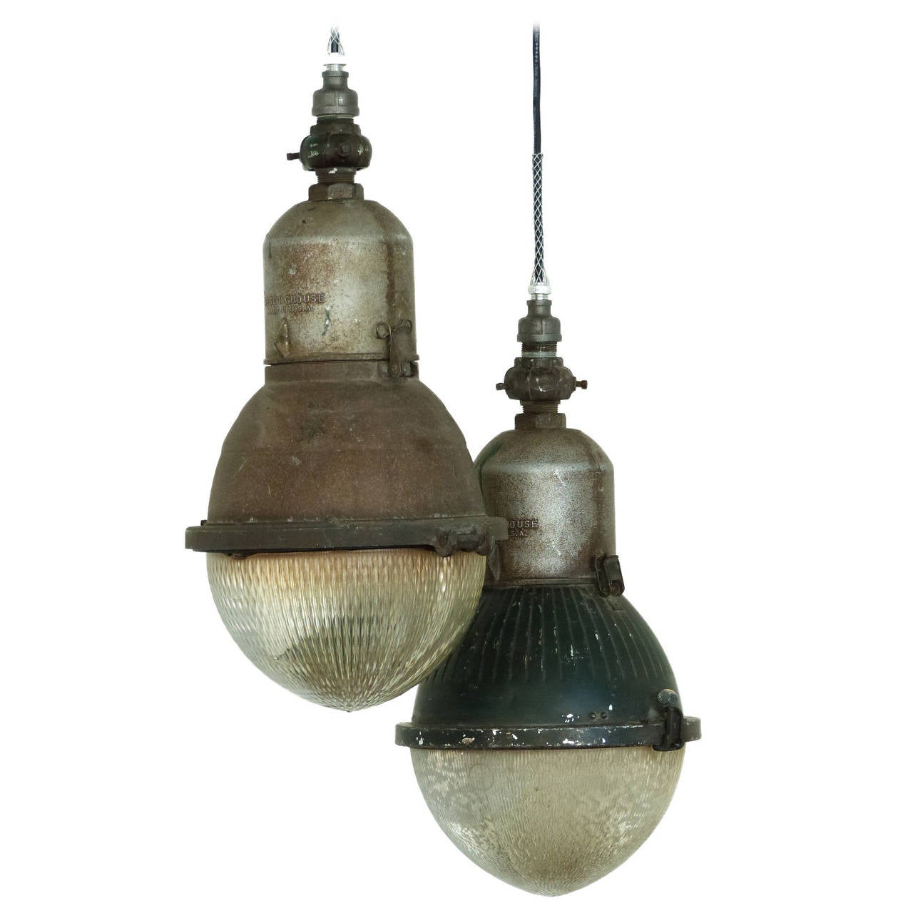 Pair Of Street Light Pendants At 1stdibs