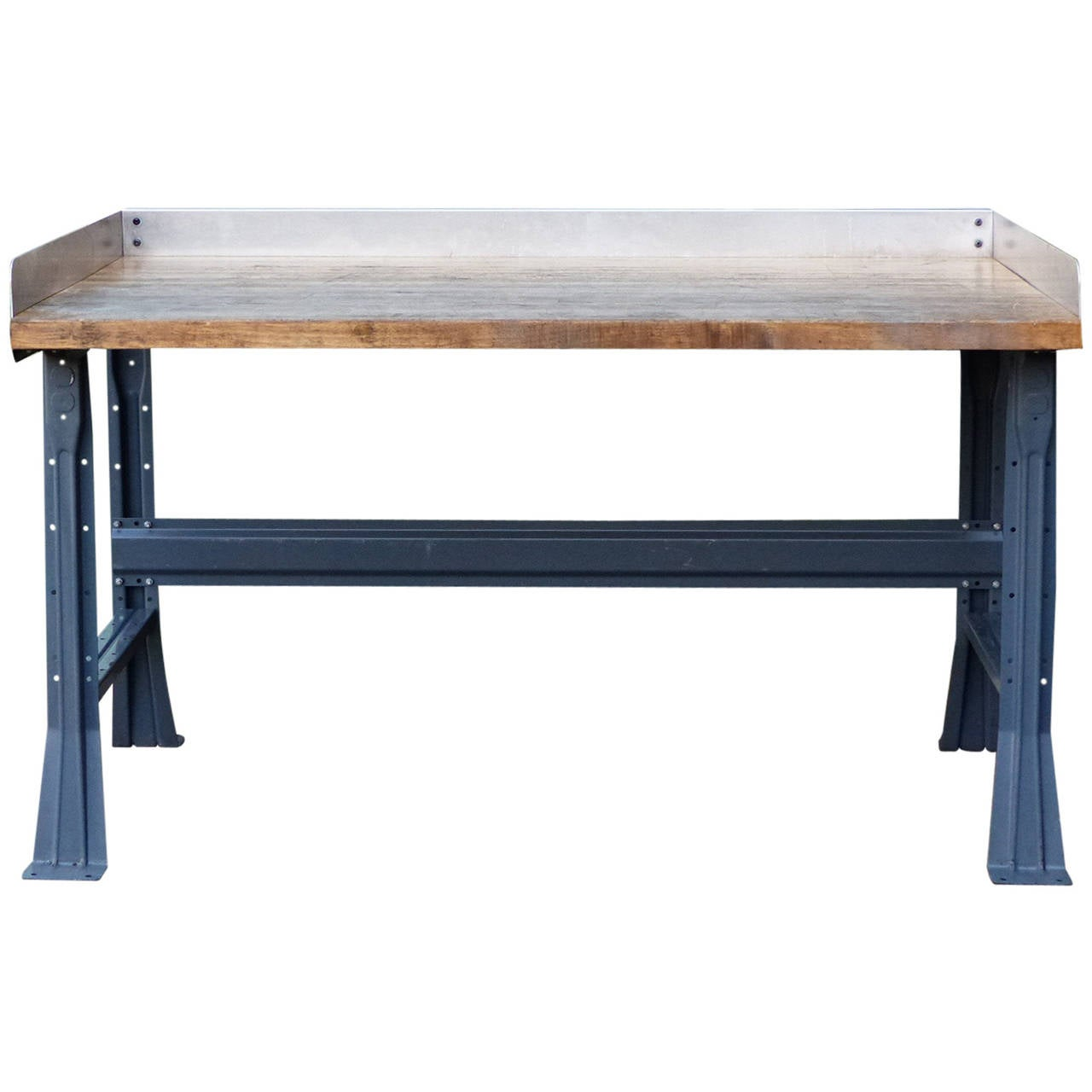 Steel industrial work table at 1stdibs for Furniture work table
