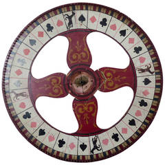 Two-Sided Vintage Wooden Game Wheel