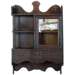 1920 Small Wall Hanging Apothecary Cabinet