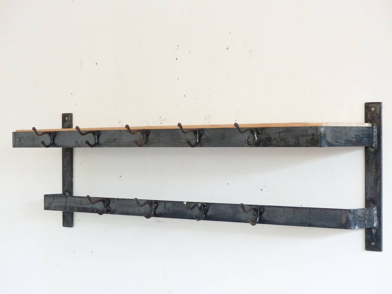 Industrial Wall Mount Coat Rack At 1stdibs