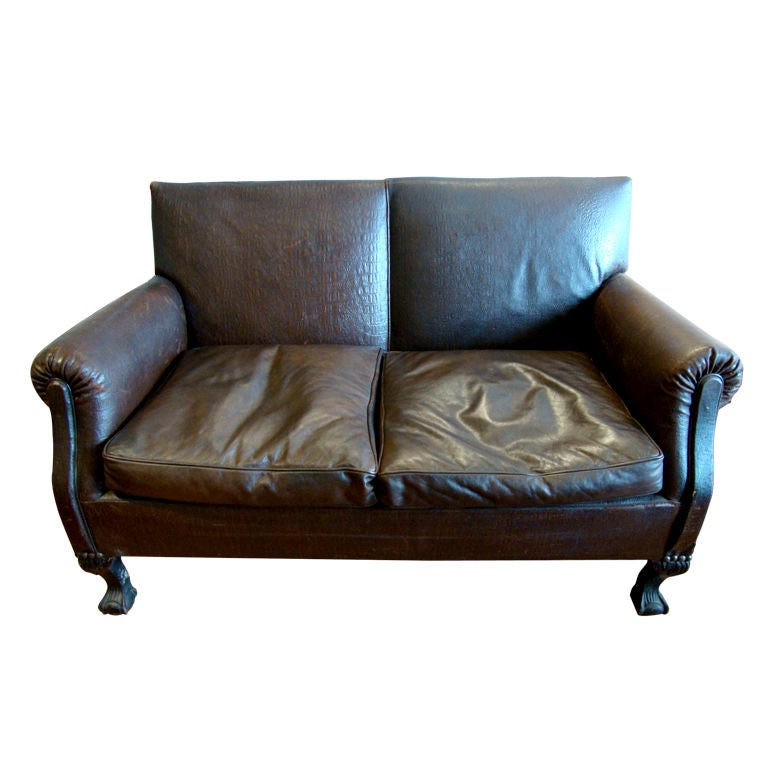 Small Leather Sofa At 1stdibs