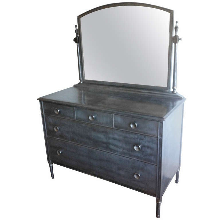 Simmons Low Boy Metal Dresser At 1stdibs