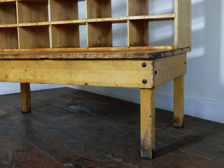 Solid Maple Sorting Desk At 1stdibs