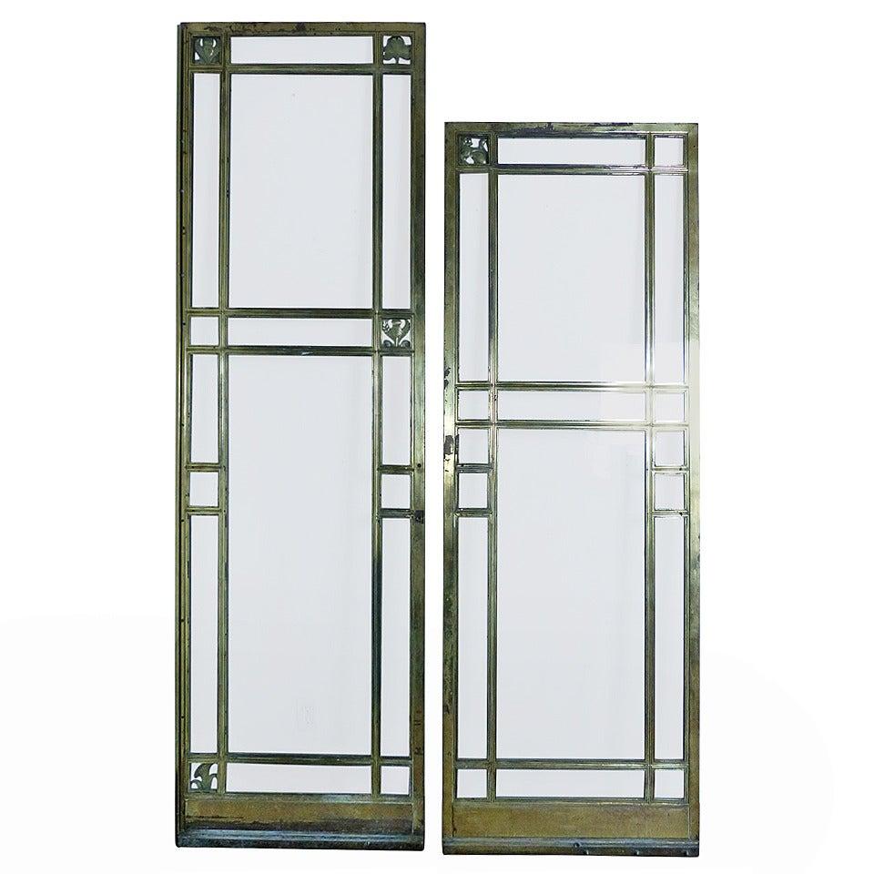 Decorative Door Panels : Brass door panels with decorative details for sale at stdibs