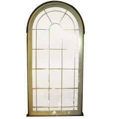 Pine arch top church window